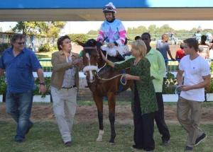 Shezawarrior with  Francois Herholdt up won the 1700m Maiden Plate.