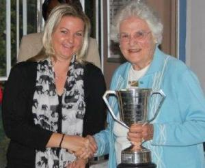 Amy Bronkhorst with Patricia Wakefield.